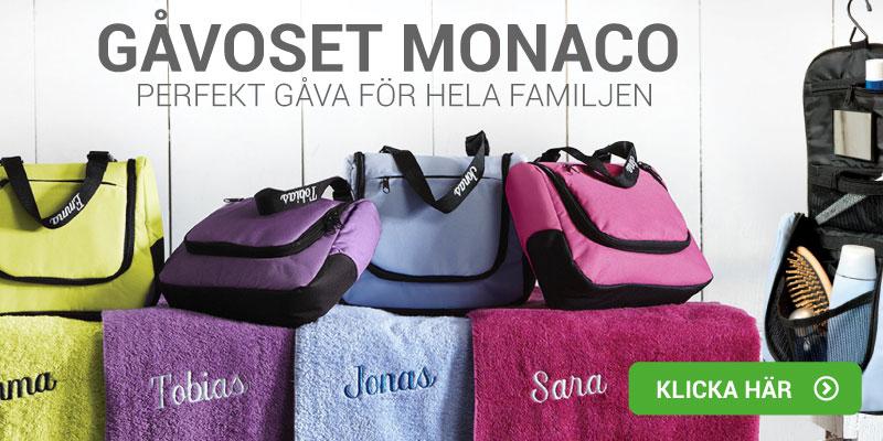 Gavesett Monaco - Håndkle og toalettveske med navn