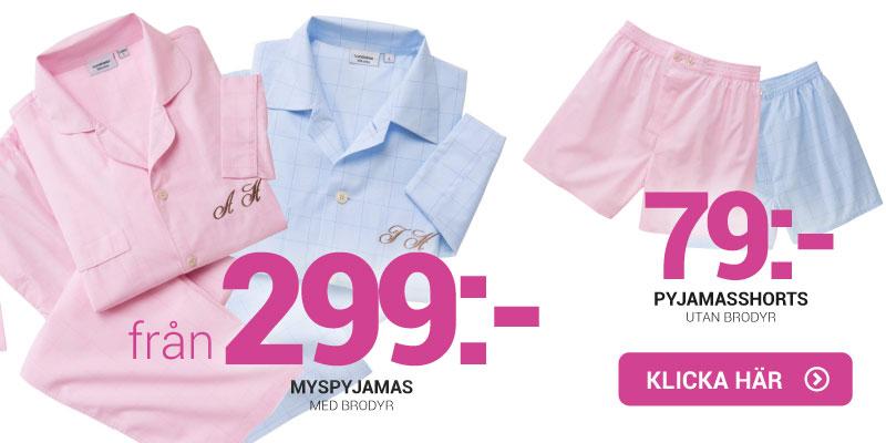 Pyjamas med navn