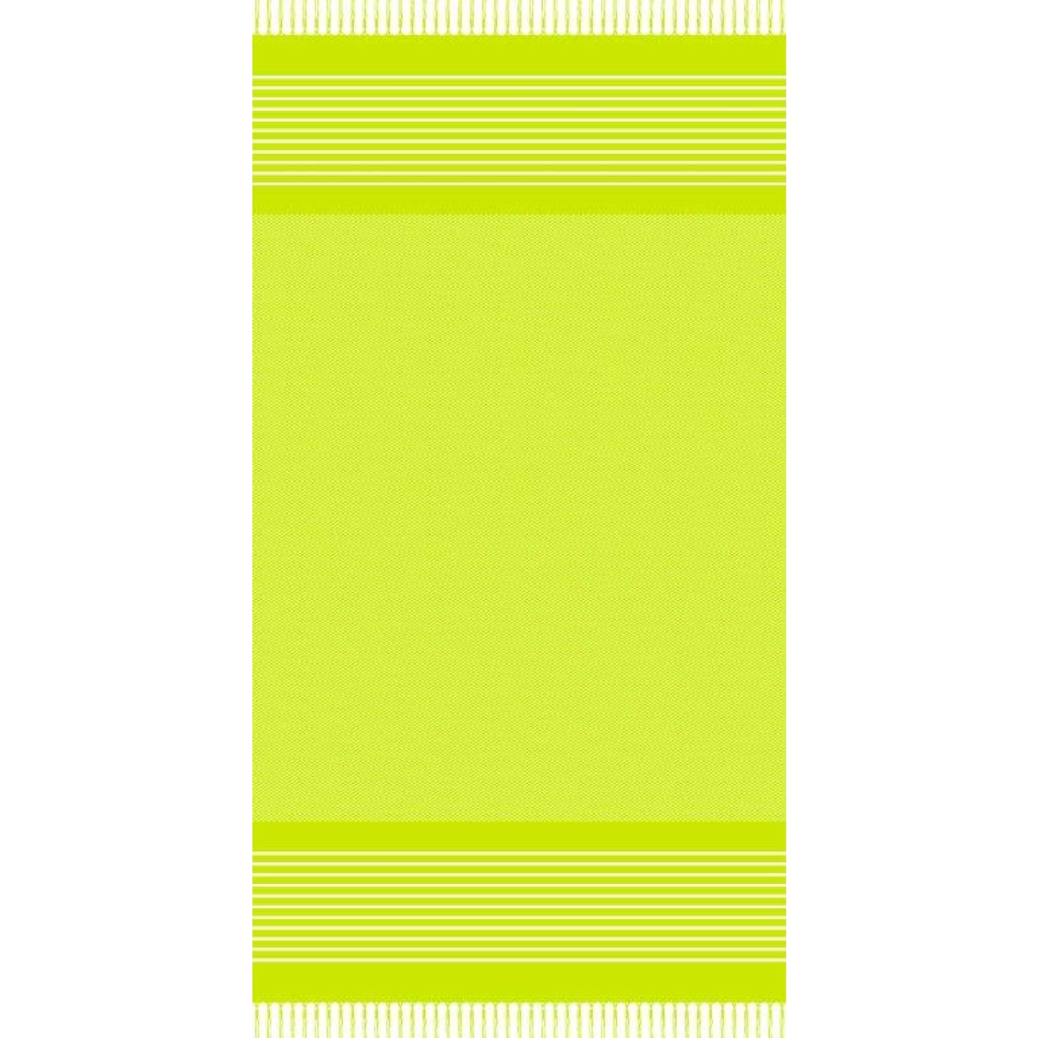 Strandlaken med frynser, Lime