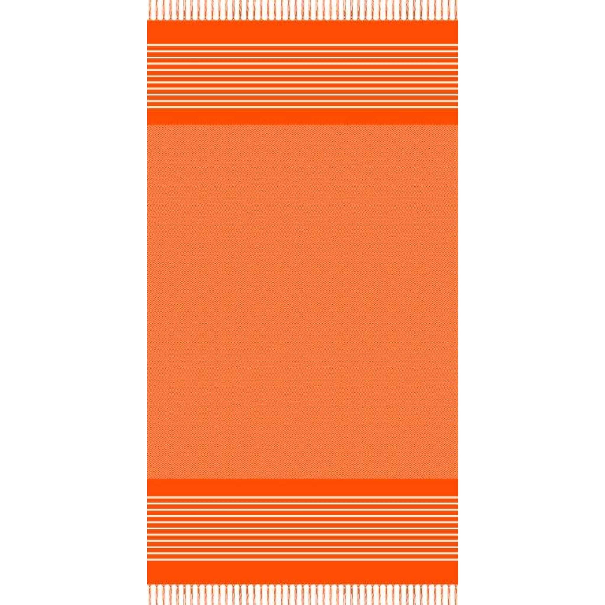 Strandlaken med frynser, Oransje
