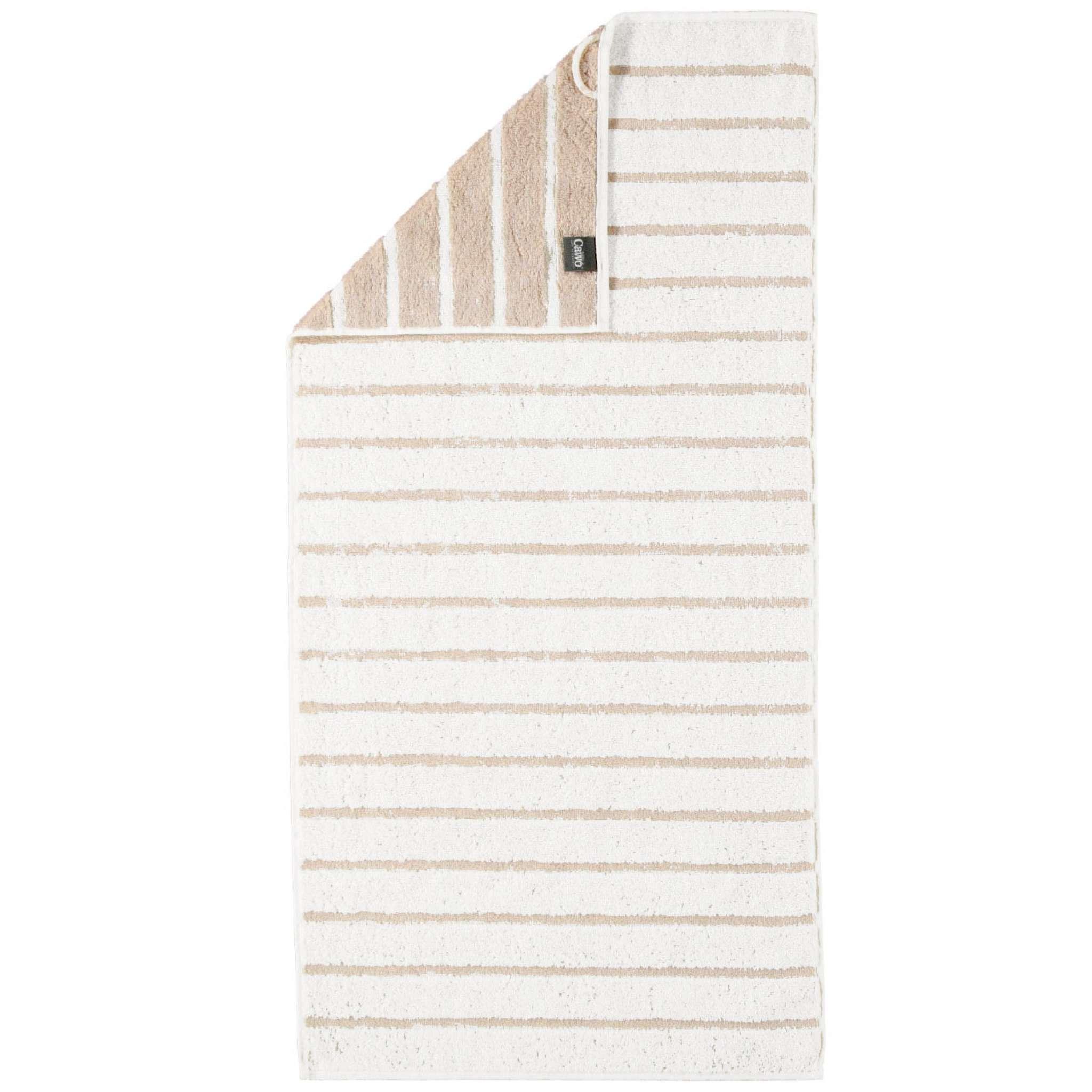 Cawö håndkle, naturhvit striper