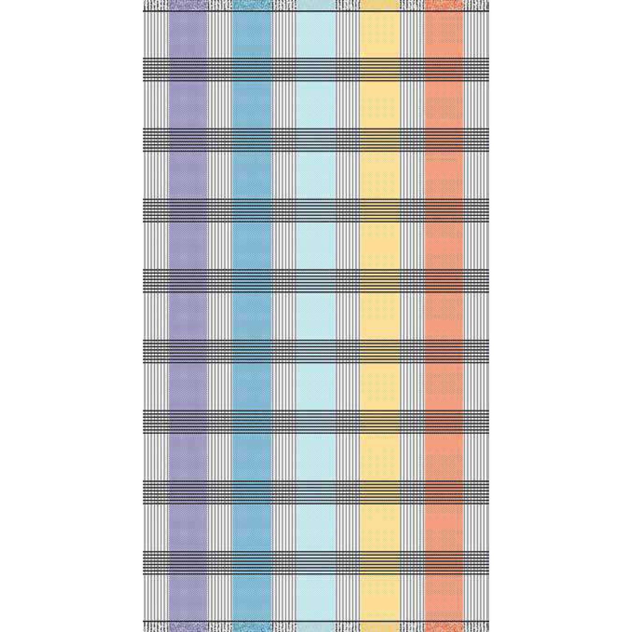 Strandlaken 100x180 Ruter blå