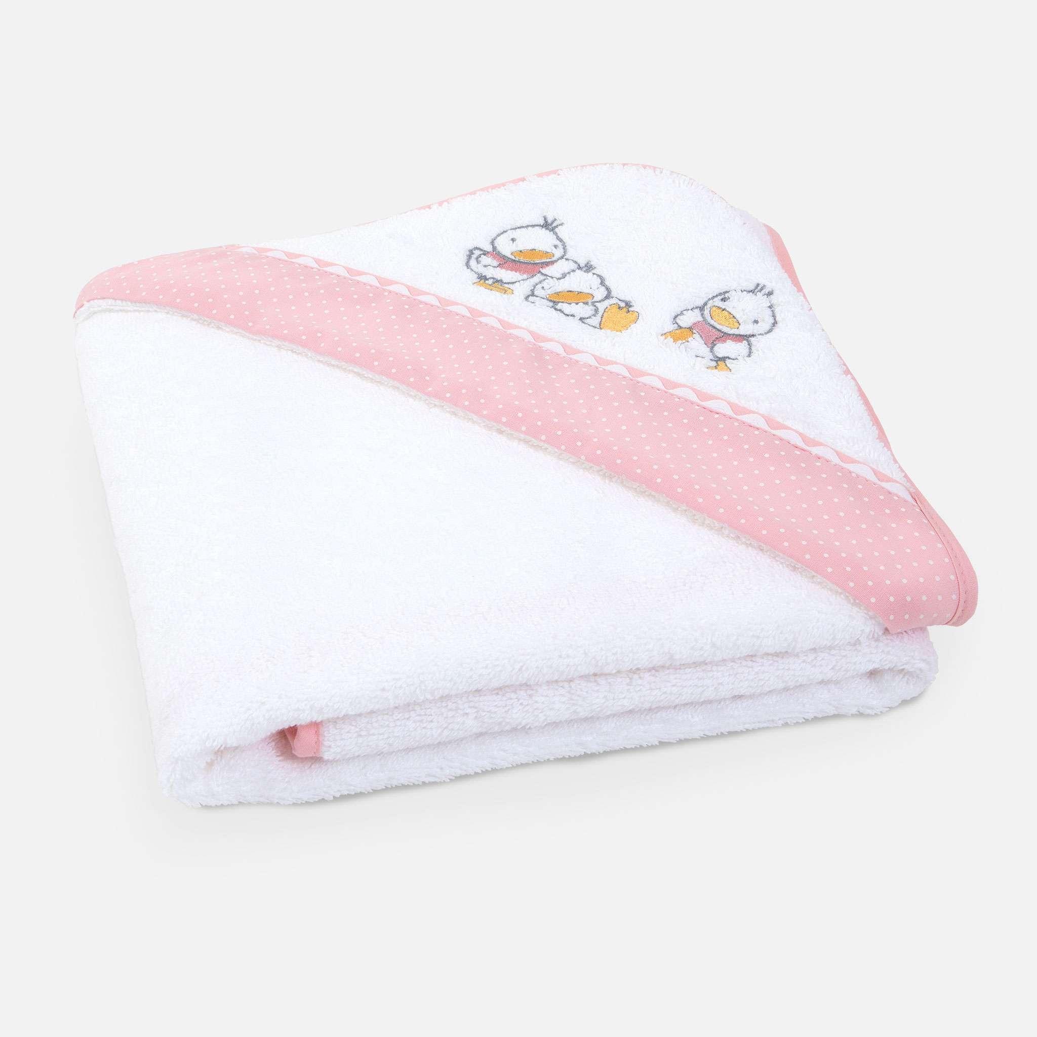 Ducks Pink Cape/hettehåndkle