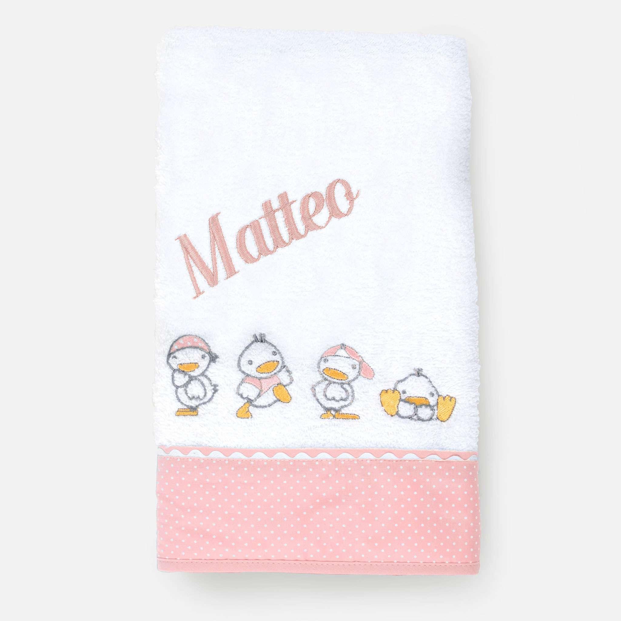 Ducks Pink Håndkle 50x100 cm