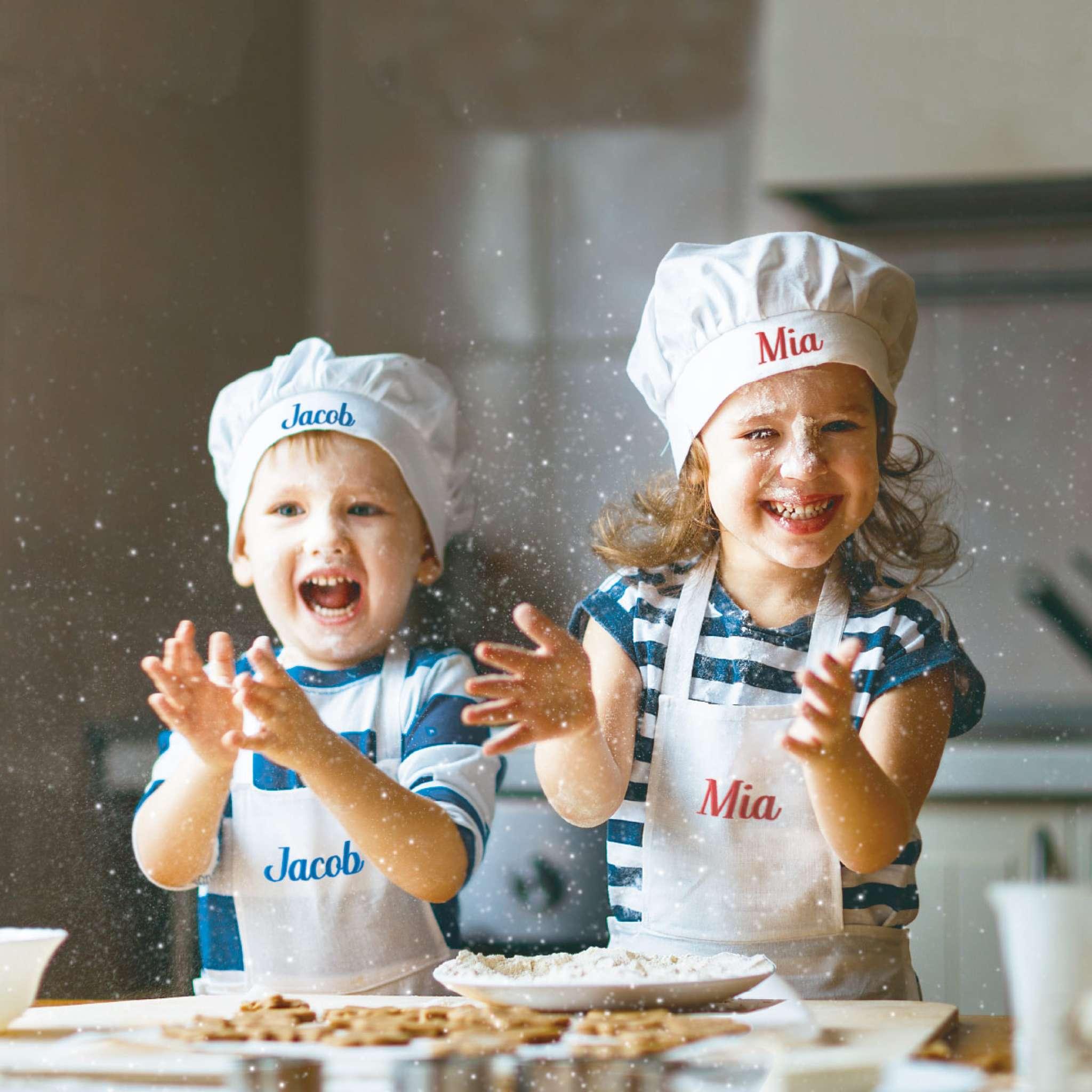 Hvitt kokkeforkle barn, 4-6 år