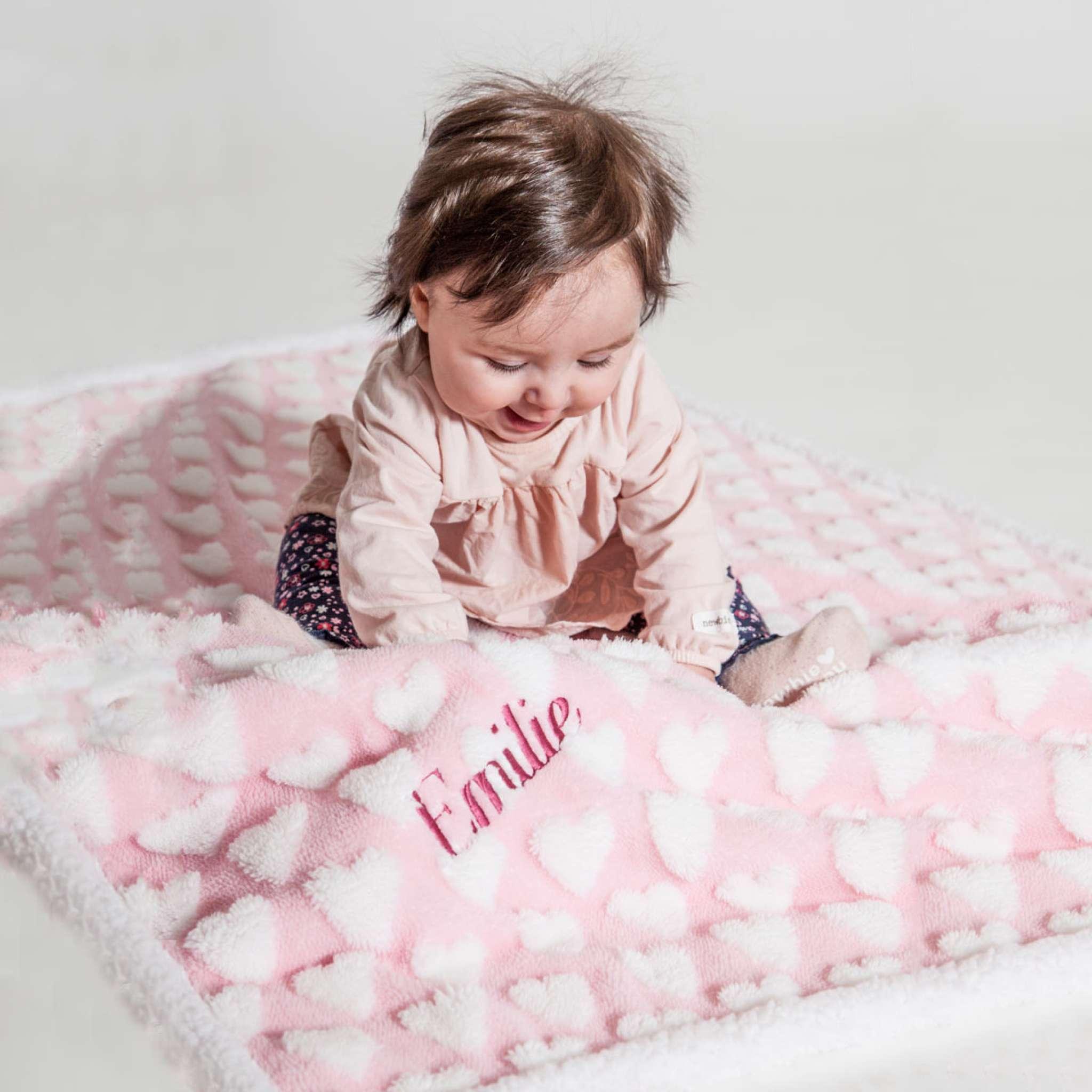 Baby sherpapledd lys rosa