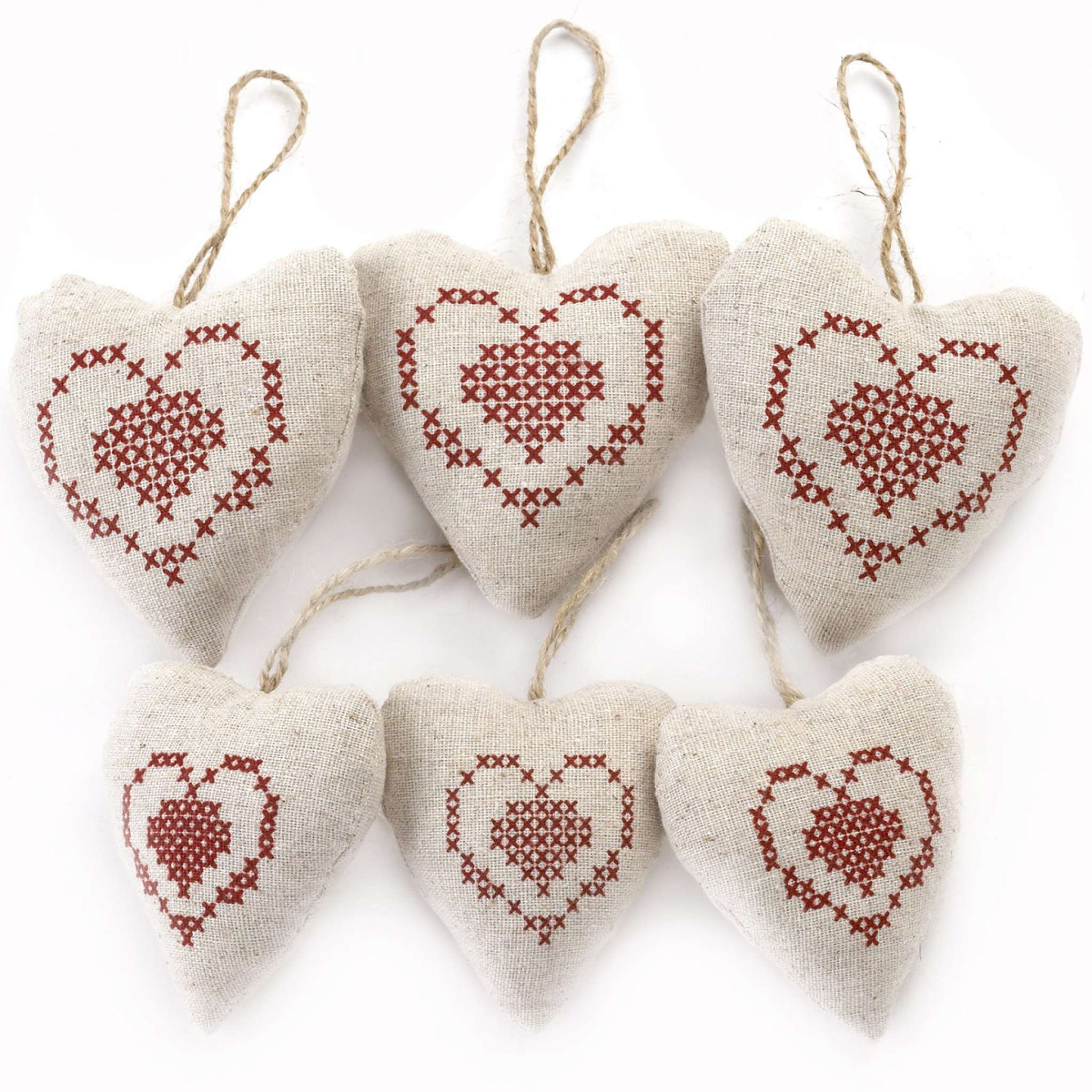 Julehjerter, hjertemønstret