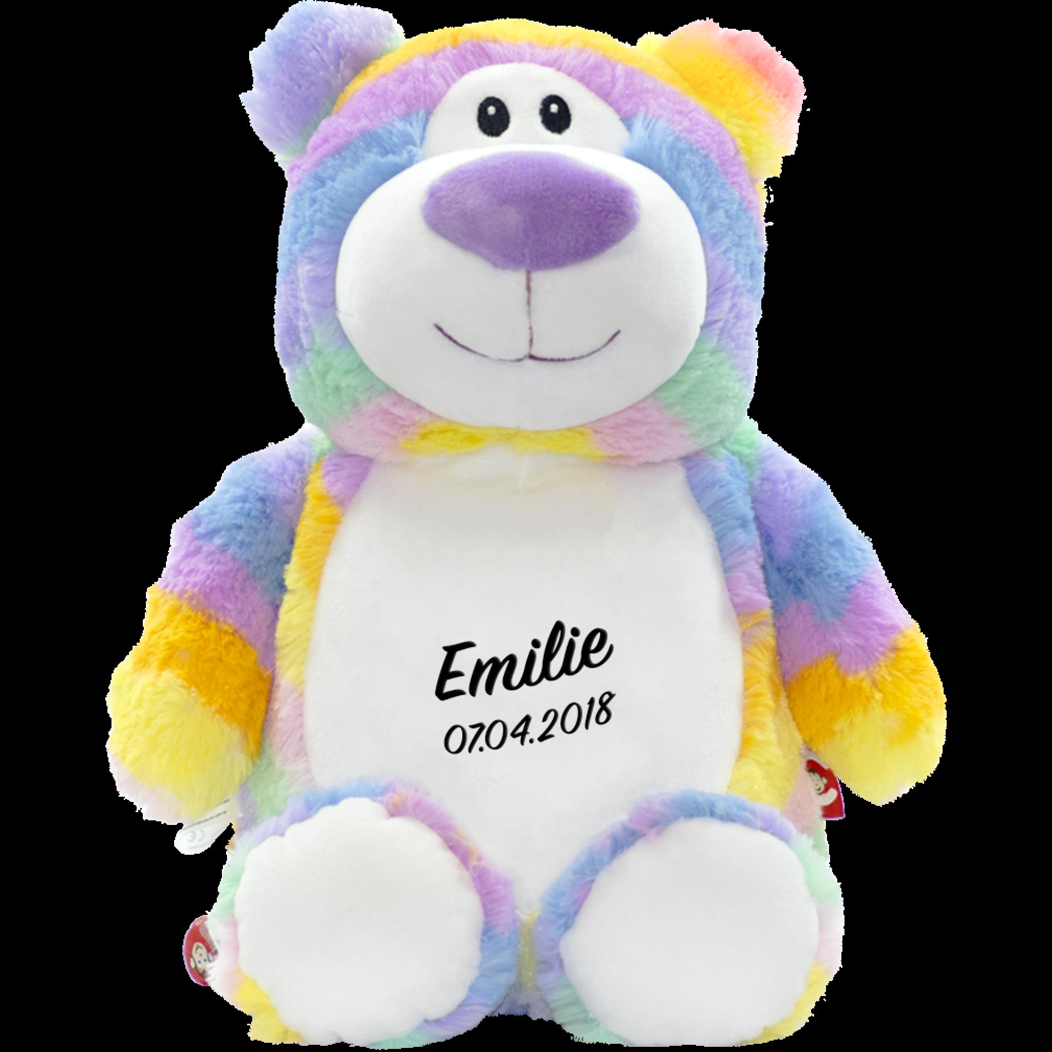 Cubbies Bamse Pastell regnbue