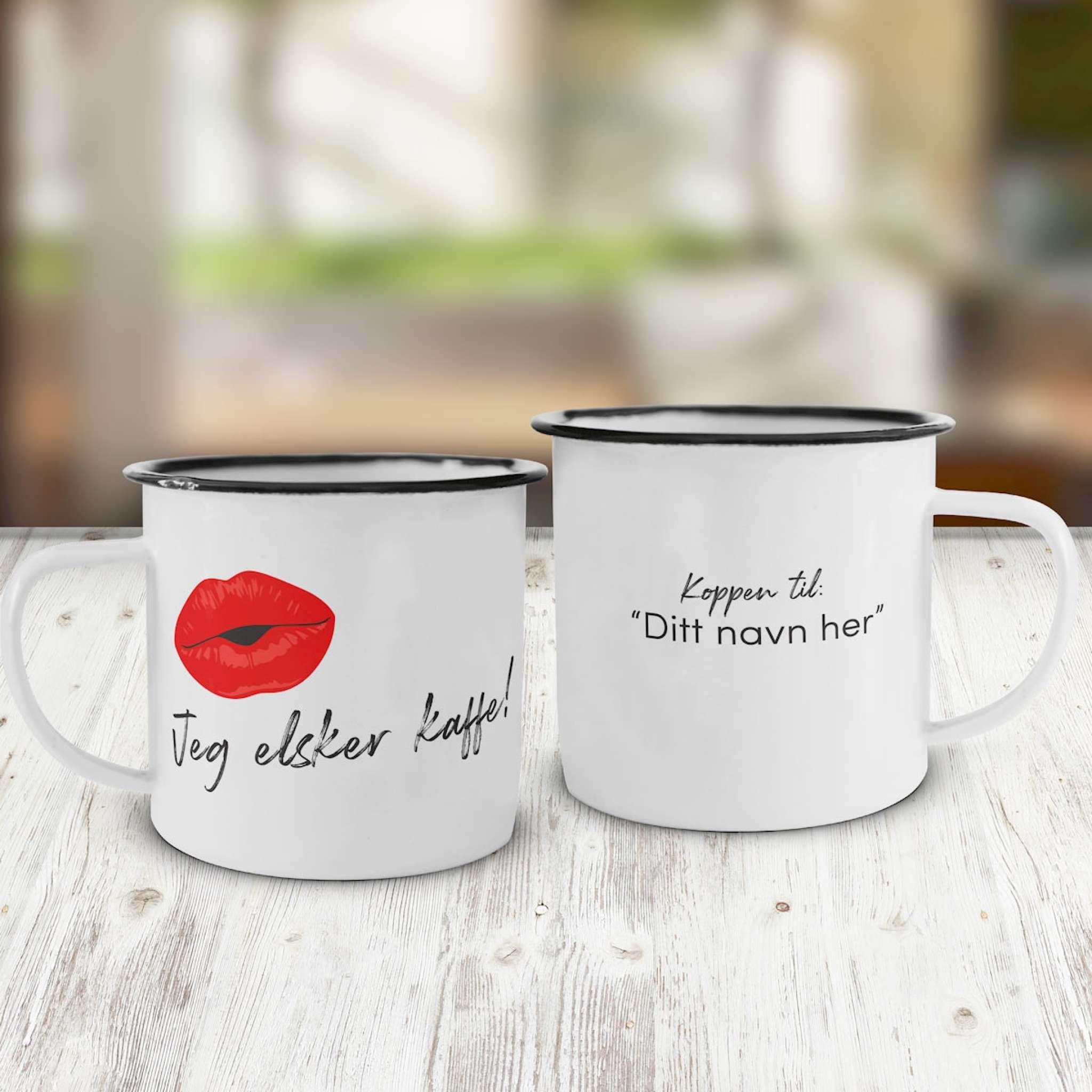 Emaljekopp, Elsker kaffe