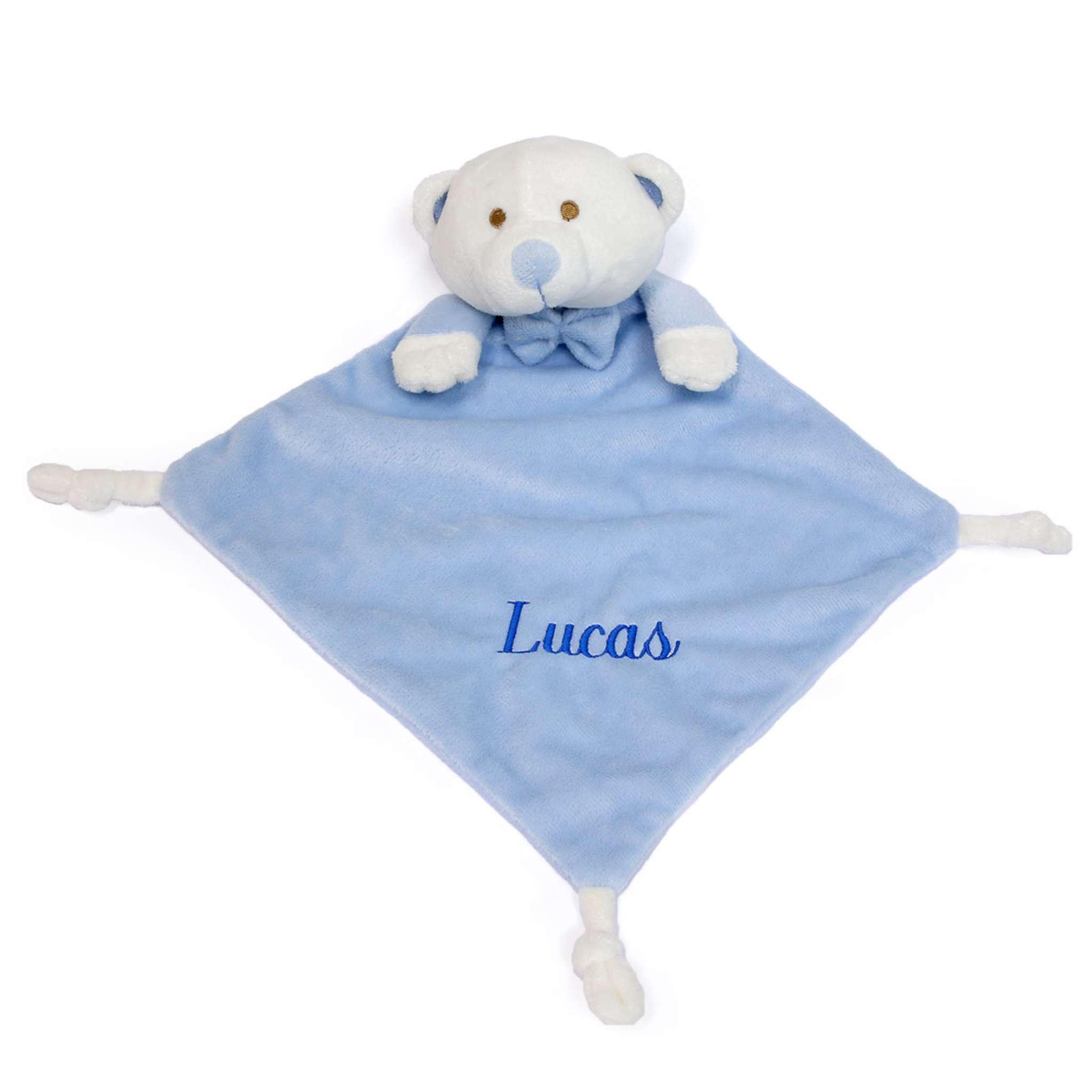 Sutteklut lys blå bamse
