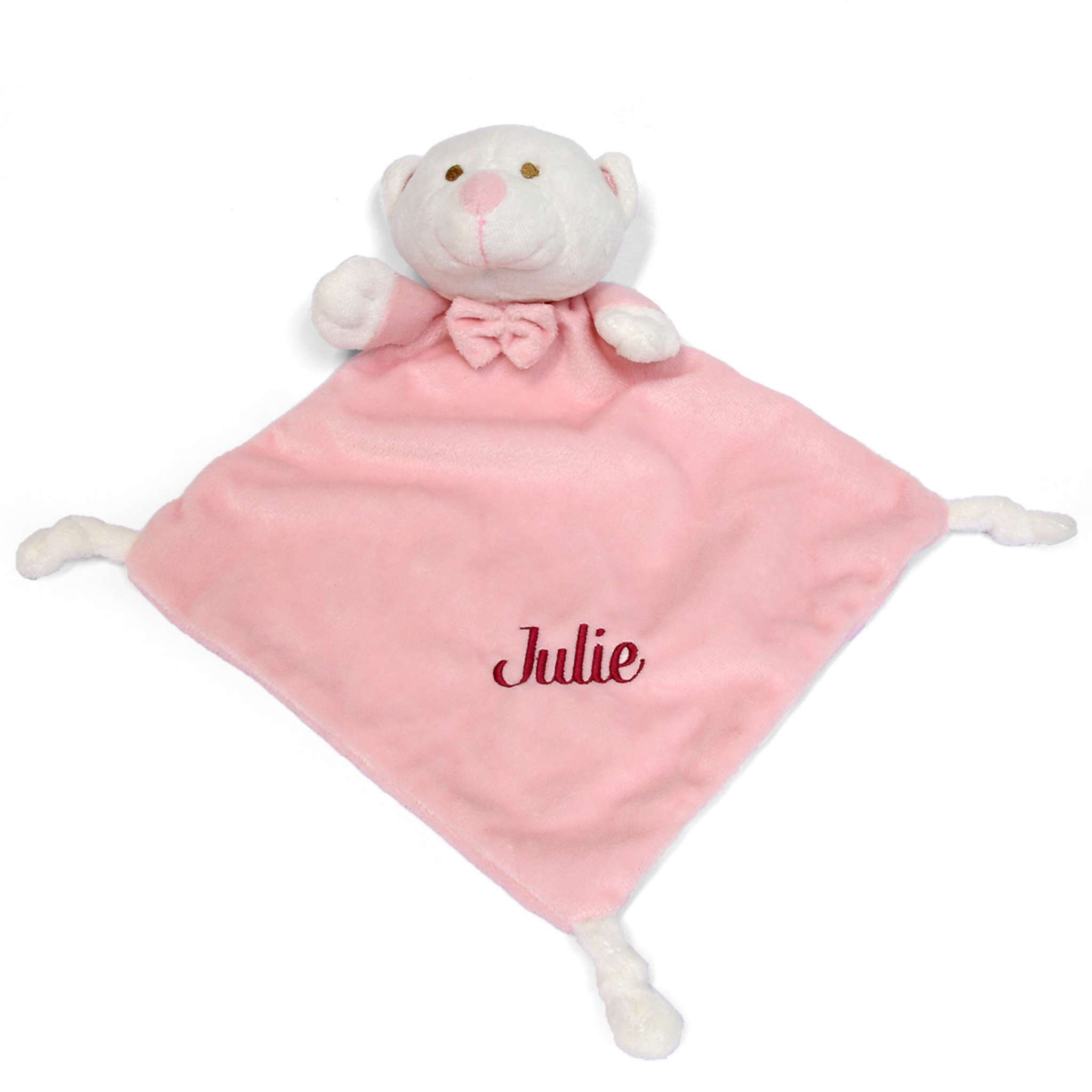 Sutteklut lys rosa bamse