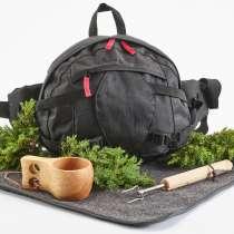 En flott turpakke med belteveske og det du trenger til en kosetur ut i naturen.