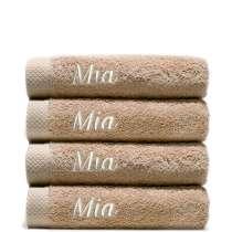 Himmelsk deilige og luksuriøst myke håndklær. Takket være bomullens absorberende natur, tørker de på kort tid.   50x100 cm, 100% bomull  <i>Bestill en enda finere gave med samme navn og farge. Dette er et sett med 4 identiske, så du alltid har et for hånden.</i>