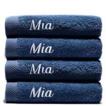 Himmelsk deilige og luksuriøst myke håndklær. Takket være bomullens absorberende natur, tørker de på kort tid. Dette er et sett med 4 identiske badehåndklær, så du alltid har et for hånden.   70x140 cm, 100% bomull