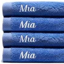 Himmelsk deilige og luksuriøst myke håndklær. Takket være bomullens absorberende natur, tørker de på kort tid.   100x150 cm, 100% bomull  <i>Bestill en enda finere gave med samme navn og farge. Dette er et sett med 4 identiske, så du alltid har et for hånden.</i>