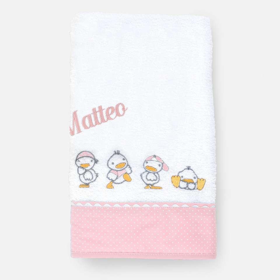 Ducks Pink Badehåndkle 70x140 cm
