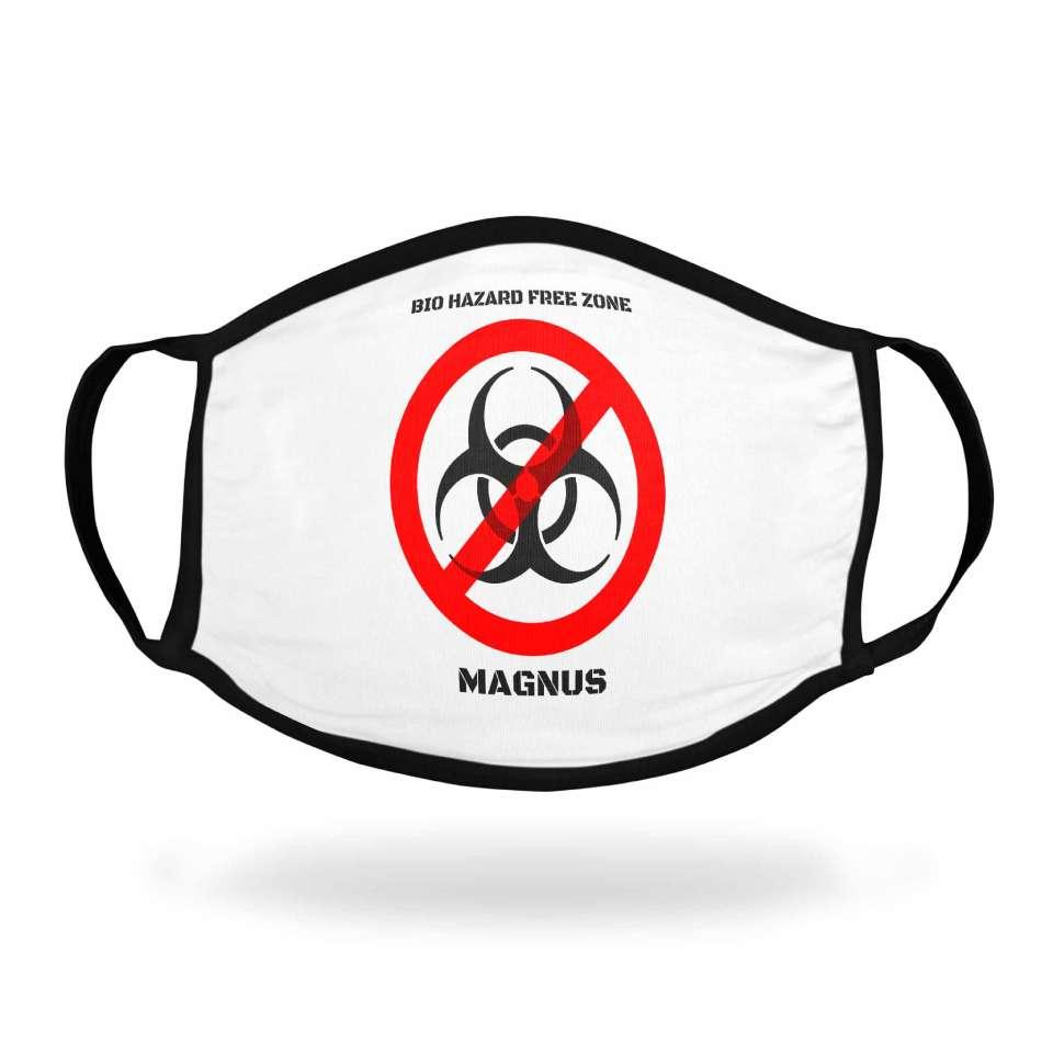 Tøymunnbind med motiv Antivirus