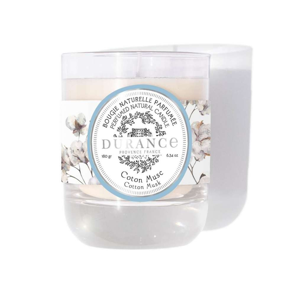 Duftlys 180g, Cotton Musk