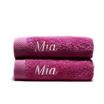 Himmelsk deilige og luksuriøst myke håndhåndklær. Takket være bomullens absorberende natur, tørker de på kort tid.   50x100 cm, 100% bomull  <i>Bestill en enda finere gave med samme navn og farge. Dette er et sett med 2 identiske, så du alltid har et for hånden.</i>
