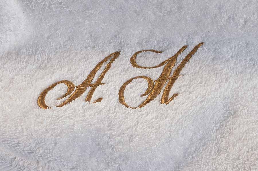 håndkle med navn initsialer