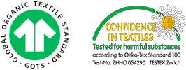 GOTS og Oeko tex sertifisert